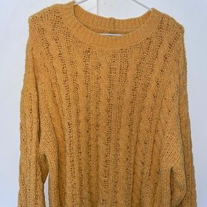 Yellow (extremely soft) knit sweater